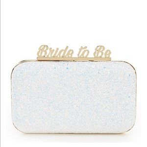 Aldo  Bride to Be Glitter Wedding Clutch